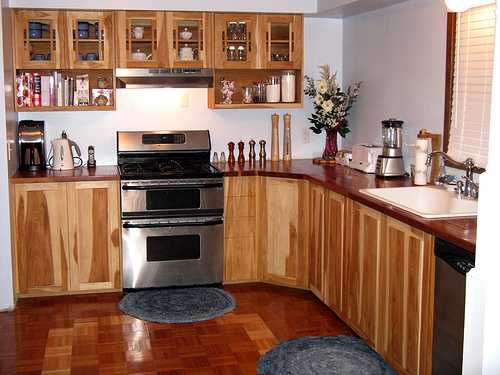 Mostly kitchens use built in cabinets a built in cabinet is usually