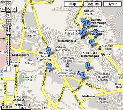 Koramangala Bangalore Map Koramangala, Bangalore – The Hot Real Estate Destination