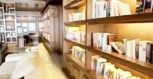 Library at Sharukh's Mannat house