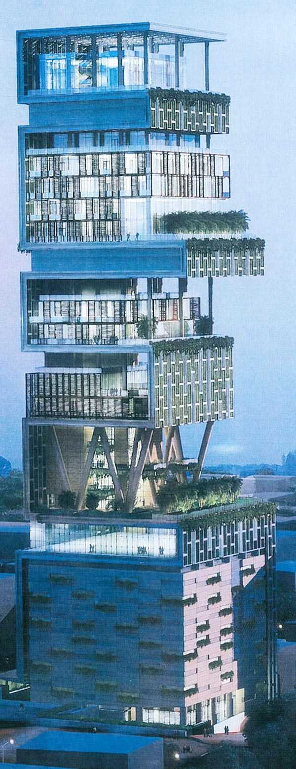 Ambani S Mumbai House Antillia Billion Dollar House