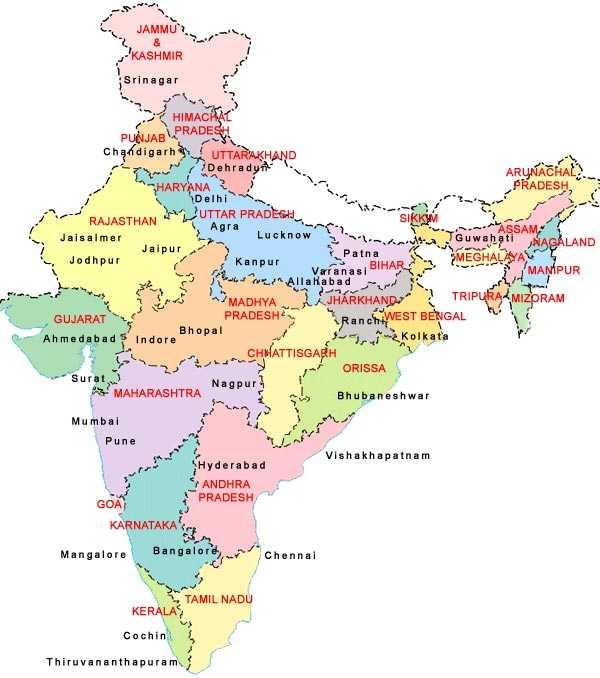 Uttar Pradesh Maps - Maps of Uttar Pradesh - Road Map of