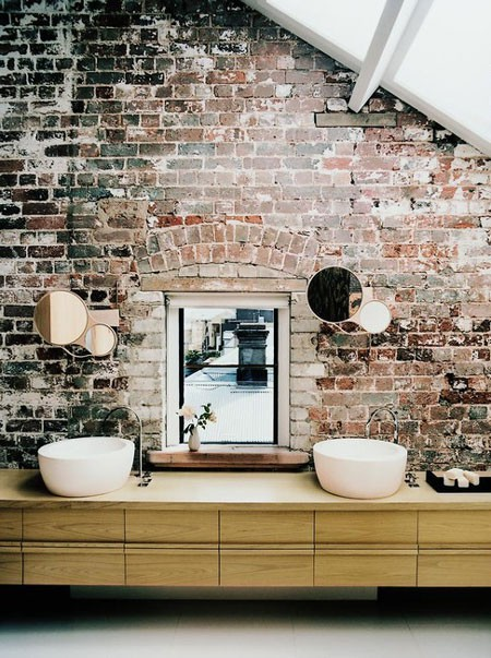 tips to mix exposed brick walls into your interior decor. Black Bedroom Furniture Sets. Home Design Ideas