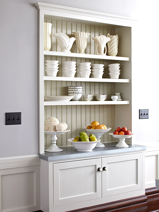 Make a small kitchen look bigger for Off the shelf cabinets