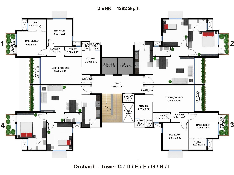 Godrej garden city in walled city ahmedabad buy sale for Landscape floor plan